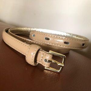 Patent Beige Belt